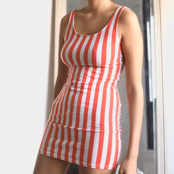 Striped Tank Top Dress